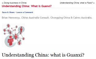 Understanding Guanxi (4-13)